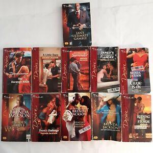 Lot Of 11 Brenda Jackson Soft Cover Romance Novels Silhouette Desire