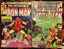 Iron Man #141 & #153 Marvel Comics (1980) The Living Laser (VG/FN)