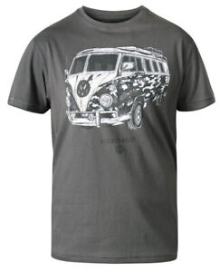 Mens Kingsize Short Sleeve T-shirt VW Camper Van Campervan Camo Tee 3XL - 6XL 49