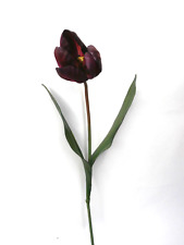 Artificial Purple Tulip Floral Stem Artificial Flower Artificial Leaves