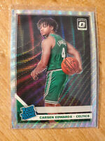 2019-20 Carsen Edwards Panini Optic Fanatics RC Silver Waves Holo Celtics SP
