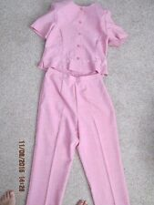 Women's Vintage short sleeve pant set pink Spaxgo Collection size 12
