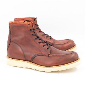 Hobo Moc Boot Stiefelette Herren 43 rot braun vintage herritage Look Leder Boot