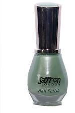 Matte-Satin Pastel GREEN Nail Polish / Varnish Saffron London 44 Mint Green