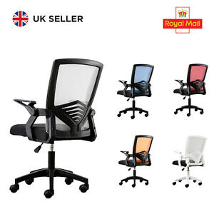 New Adjustable Executive Swivel Lift Computer Mesh Office Home Chair Fabric 360°