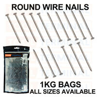 "100gm Strong Round Wire Nail Bright Steel 65mm 21//2/"" home DIY garden fence 72298"