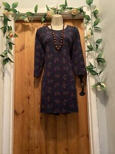 SEASALT WINTER HOLLY BERRY JERSEY TUNIC DRESS SIZE 14