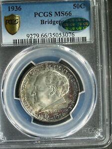 1936 U.S. Bridgeport Commemorative Silver Half $  MS66 (PCGS Green CAC) stk#3076