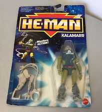 1990# VINTAGE HE-MAN MOTU THE NEW ADVENTURES KALAMARR  ACTION FIGURE #MOSC