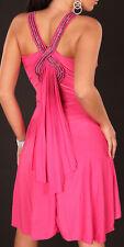 Mini Vestido para Mujer Cóctel Salsa de Danza Noche Boda Baile Estrás