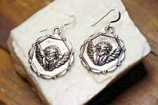 Cupid Earrings Pendant 925 sterling silver hooks pewter Charms Valentine Charm