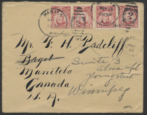 1929 Cover, Manila Philippines to Bagot MAN Canada, Redirected to Winnipeg