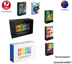 Unstable Unicorns Base Premium B & W all Expansions New Pack Card Game
