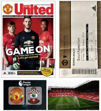 HOME Debut Pogba, Zlatan MANCHESTER UNITED v Southampton 2016, Ticket & Magazine