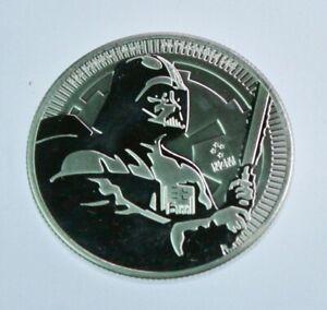 2020 - Niue Star Wars Darth Vader 1 oz .999 Fine Silver Coin BU in cap  #656