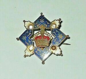 Unknown Enamel Badge -  Incorporates Kings Crown possibly King George V