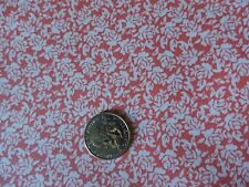 100% Cotton Fabric - White Roses on Pink Salmon - By The Yard