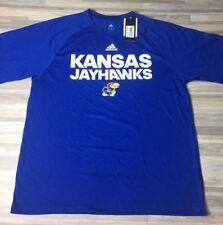 finest selection c0cc0 37939  35 Adidas Kansas Jayhawks Climalite Jersey Tee Shirt Men s Sz MEDIUM Blue  NWT