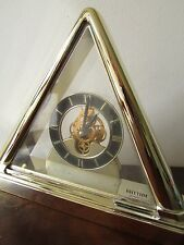 RHYTHM PYRAMID MANTEL SKELETON CLOCK MADE IN JAPAN, RARE DESIGN, ONLY 1 ON EBAY.