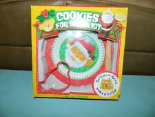 Build A Bear~Cookies For Santa Kit~Plate~Spatula~Cookie Cutter