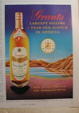 5 1958 Scotch Whisky Grant's White Horse Cizano vermouth Dubouchett vtg old ads