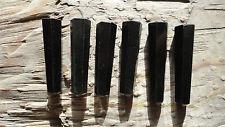 "Point set JJJJJ (pkg 6) Black StoneBeautiful Point stone set approx 1"" long"