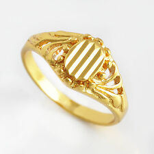 Womens Antique yellow Gold Filled promise   love Ring size 6 Friendship Jewelry