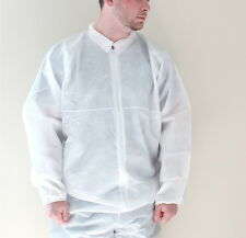 ONE 2XL WHTIE DISPOSABLE COVERALL POLYPROPYLENE  POLYETHYLENE FREE SHIPPING