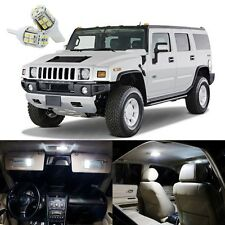 17 x Xenon White LED Interior Light Package Kit Deal For Hummer H2 2003 - 2009