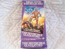 THE INVINCIBLE GLADIATORS VHS BIG BOX LIGHTNING FORCE VIDEO HERCULES MUSCLE MEN