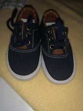 Brand New Only Tried On Toddler Baby Boys Blue Boat Shoes Size 4 Koala Kids