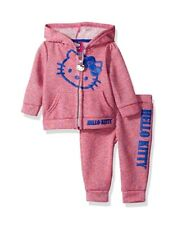 Hello Kitty Big Girls' 2 Piece Hooded Active Set with Multi-Color Set Size 10
