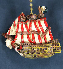 Pirate Ship Fan or Light Pull Nautical Whimsy home decor