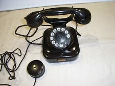 Altes Telefon W 28 Metall  1942 Bakelit Wählscheibe Bastlergerät  RP Dose