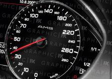 x8 Premium Mercedes AMG Logo Car Interior Speedometer Speedo Decals Stickers