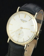 VINTAGE LONGINES 10K GOLD F MENS WRIST WATCH - MINT DIAL – MINT SILVER DIAL -23Z