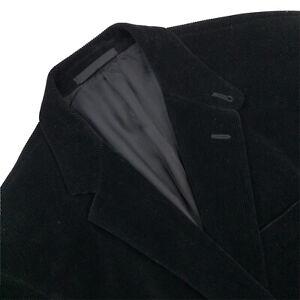 Hommes 42 R Ralph Lauren Black Label Slim Fit Velours Blazer Fabriqué Italie