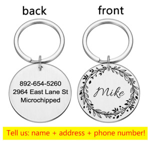 Personalized Engraved Glitter Paw Print Tag Dog Cat Pet ID Tags Reflective