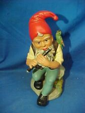 1970s HEISSNER West Germany No 513 GARDEN GNOME w FLUTE Figure Never Used w TAG