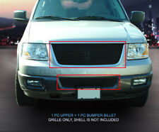 Fits 2003-2006 Ford Expedition - BLACK Billet Grille Grill Combo  - 2pcs.