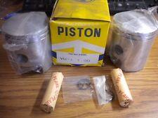 NOS Pair of MC Yamaha Piston w Clips and Pin 1.00 YM1 YM-1 YM2 YM2C 159-11638-00
