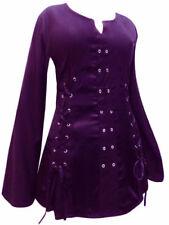Maglie e camicie da donna a manica lunga con girocollo viola