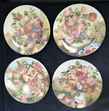 Set Of 4 Limoges French Home Plates * Coordinating But Not Matching * Beautiful!