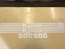 Koyker 500 Loader Decals