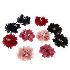 10x Sewing Fabric Flower Embellishment for DIY Dress Hair Applique Patch #1