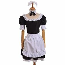 Saber Lily Cosplay Black Maid Dress White Apron Anime Fate stay night/Fate Zero