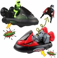 RC Bump and Eject Bumper Car Stunt Vehicles with Ejectable Drivers Toy Car Gift