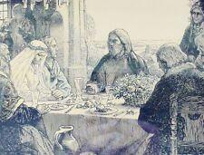 Antike christliche HOCHZEITS-URKUNDE von 1921 mit DENKSPRUCH / gerahmt - schick