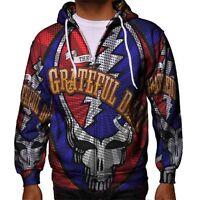 Grateful Dead LOGO Band Hoodie Men's Zipper Hoodie New Best Design