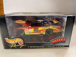 Bill Elliott #94 NASCAR Hot Wheels Racing Select McDonald's 1:24 Diecast, NIB